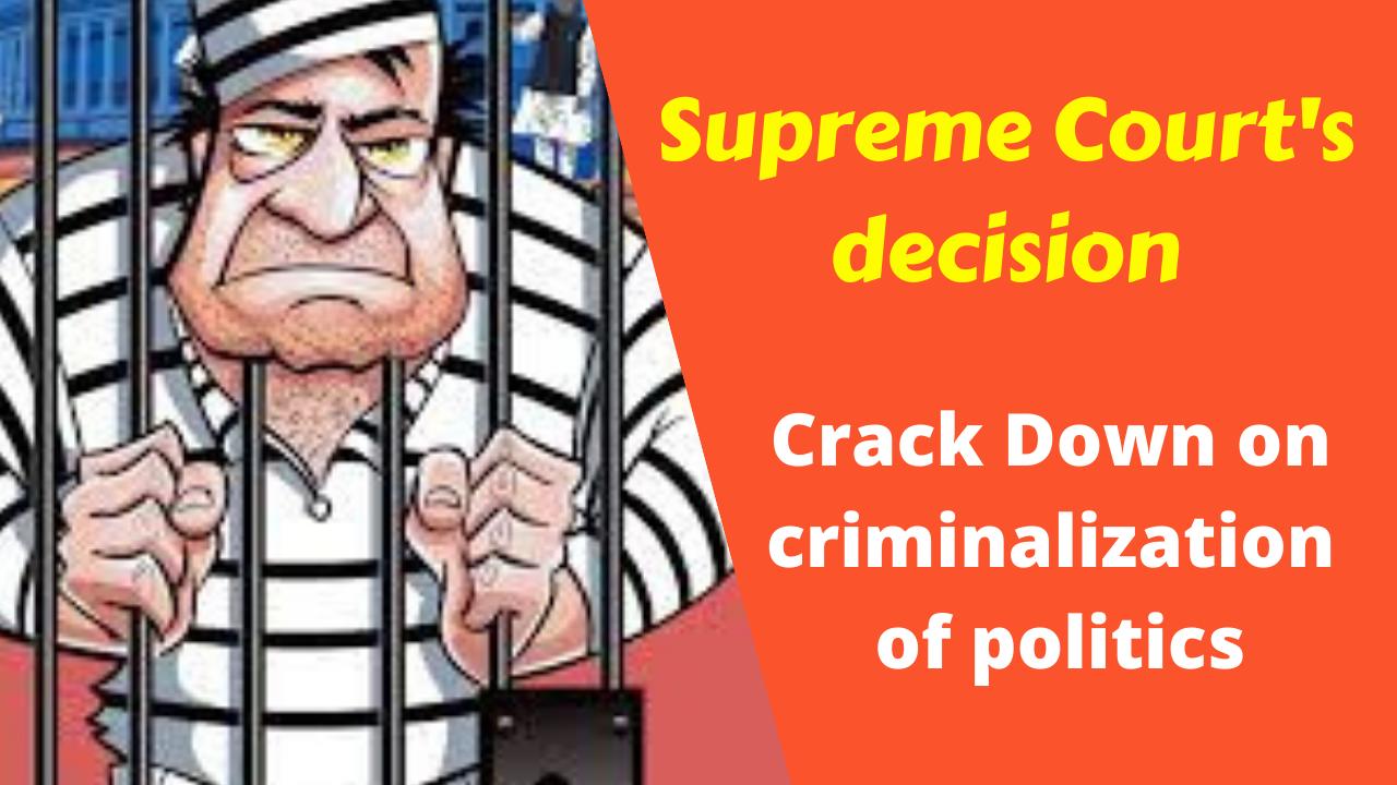 Bihar: Supreme Court's decision hopes to crack down on criminalization of politics