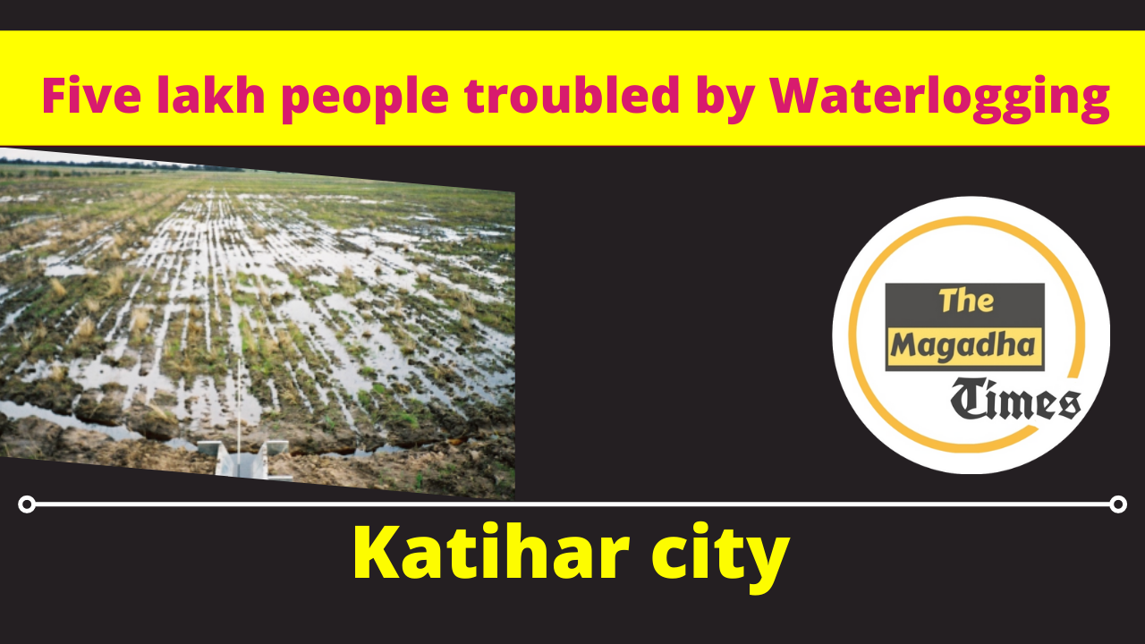 Five lakh people of Katihar city troubled by waterlogging