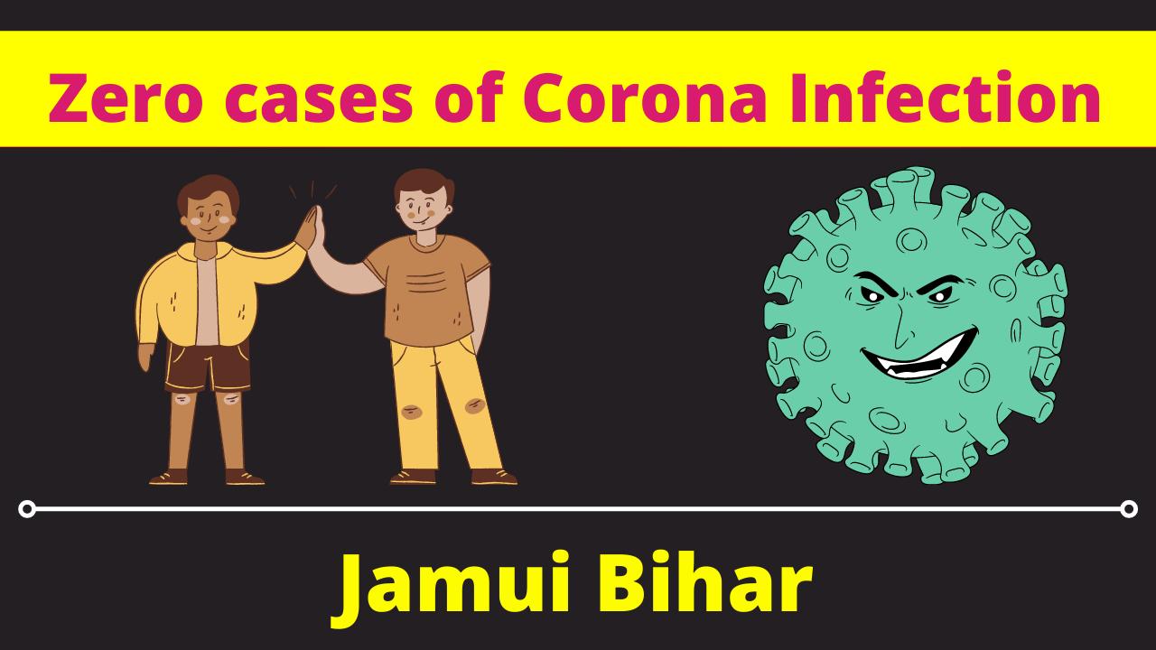 zero cases of corona infection in jamui district, Bihar